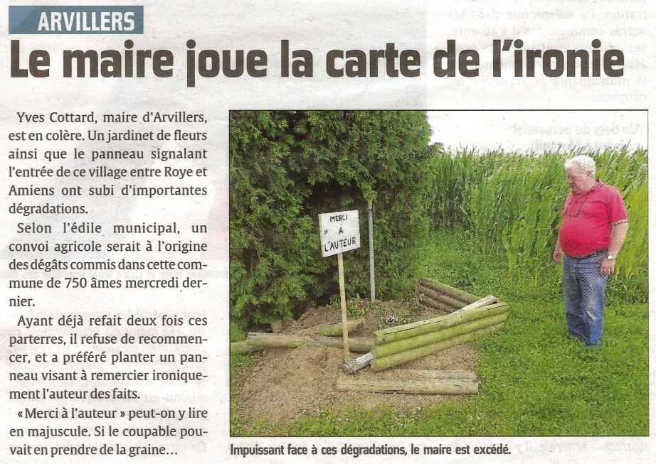 courrier picard 7 aout 2012 arvillers