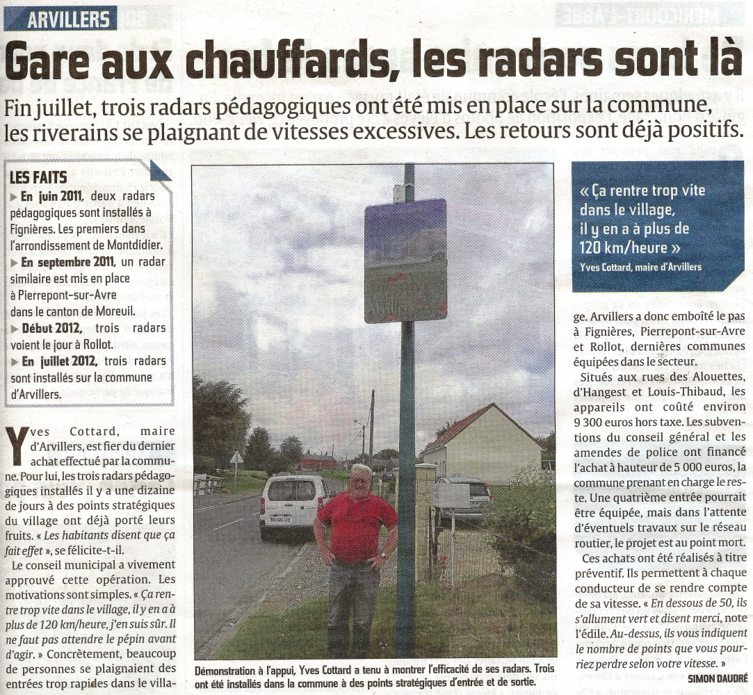 courrier picard 8 aout 2012 arvillers